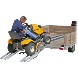 Straight Aluminum Tractor or ATV Trailer Ramp Set