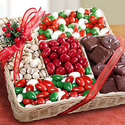 Holiday Party Nuts & Sweets Basket