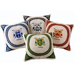 Personalized Irish Coat of Arms Tapestry Pillow Cover