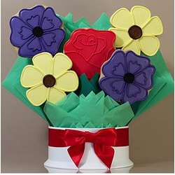 Mixed Flowers Cookie Bouquet