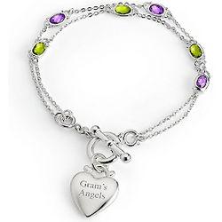 Multi Strand Birthstone Bracelet