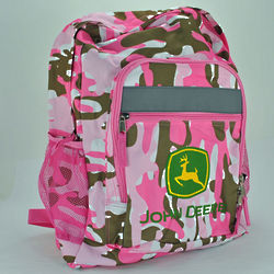 John Deere Pink Camo Backpack