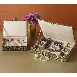 Cheetah Jewelry Case Set