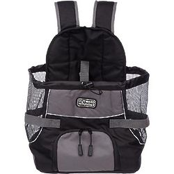 Gray and Black Pet Carrier Backpack