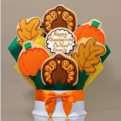 Thanksgiving Decorated Cookie Bouquet