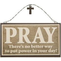 Prayer Wooden Door Hanger
