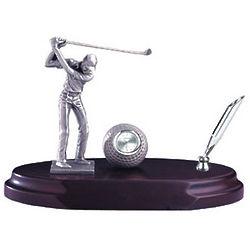 Golfer Clock and Pen Holder