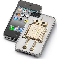 Engravable Robot iPhone 4 Case