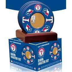 Texas Rangers Coasters with Game Used Dirt