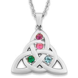 Celtic Knot Family Austrian Crystal Birthstone Pendant