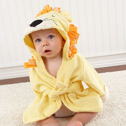 Baby's Big Top Bath Time Lion Hooded Spa Robe