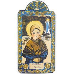 St Bernadette Patron Saint of Illness Retablo Plaque