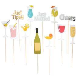 Wedding Drink Photo Booth Stick Props