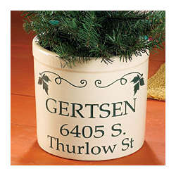 Personalized Address Crock