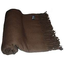 Pure Cashmere 3 Ply Throw Blanket in Chocolate