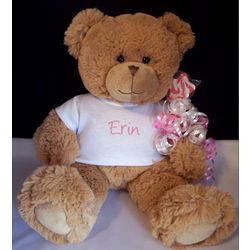 Personalized Teddy Bear with Star Lollipop