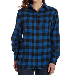 Women's Buffalo Check Flannel Shirt