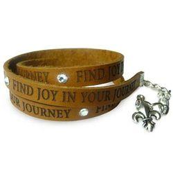 Find Joy in Your Journey Leather Wrap Bracelet