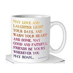 Love and Laughter Irish Blessing Mug