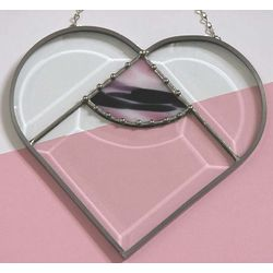 Beveled Glass Heart Window Hanging