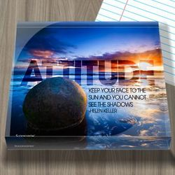Attitude Quote Infinity Acrylic Paperweight