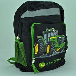 John Deere Black Tractor Backpack