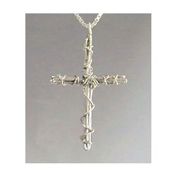 Small Wrapped Cross Pendant
