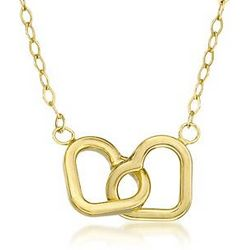 14kt Gold Over Sterling Silver Heart Necklace
