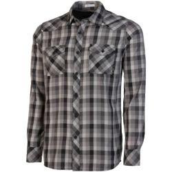 Grey Plaid Button-Up Shirt