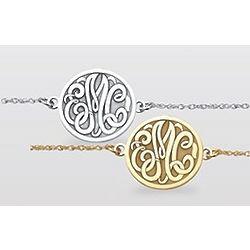 Sterling Silver Monogram Initial Bracelet