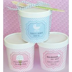 Personalized Ice Cream Pint Container Favors