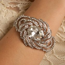 Fancy Rhinestone Jeweled Starburst Bracelet