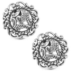 Silver Rodeo Button Earrings
