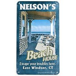 Personalized Beach House Metal Sign