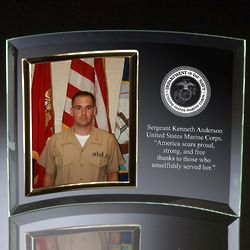 Marines Glass Vertical Photo Frame