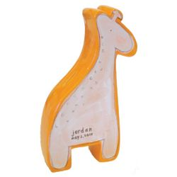 Personalized Giraffe Coin Bank in White