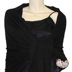 Pure Pashmina 2 Ply Wrap in Black