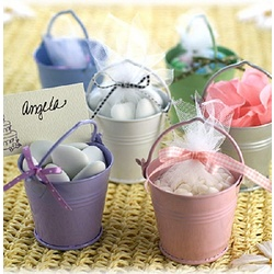 Baby Shower Colorful Favor Pails