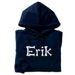 Personalized Halloween Glow in the Dark Adult Hoodie