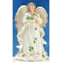 Musical Irish Angel Porcelain Figure