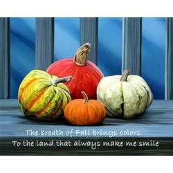 Pumpkin Gourds Premium Luster Print
