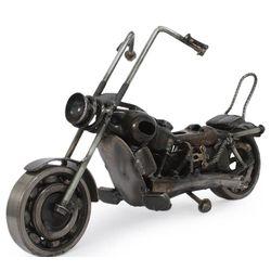 Rustic Motorbike Classic Auto Parts Sculpture