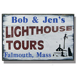 Personalized Vintage Lighthouse Tours Sign