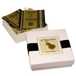 Personalized Perfect Pair Tea in Pear Motif Gift Box
