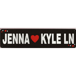 Personalized Lovers Lane Metal Sign