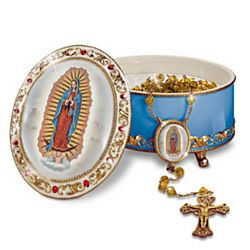 """Our Lady Of Guadalupe"" Rosary Box and Rosary"