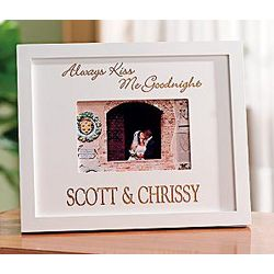 Personalized Always Kiss Me Goodnight Frame