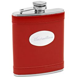 Apple Red Hip Flask
