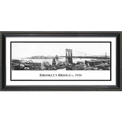 Brooklyn Bridge 1910 Framed Print