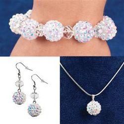 Snowball Glitz Jewelry Set